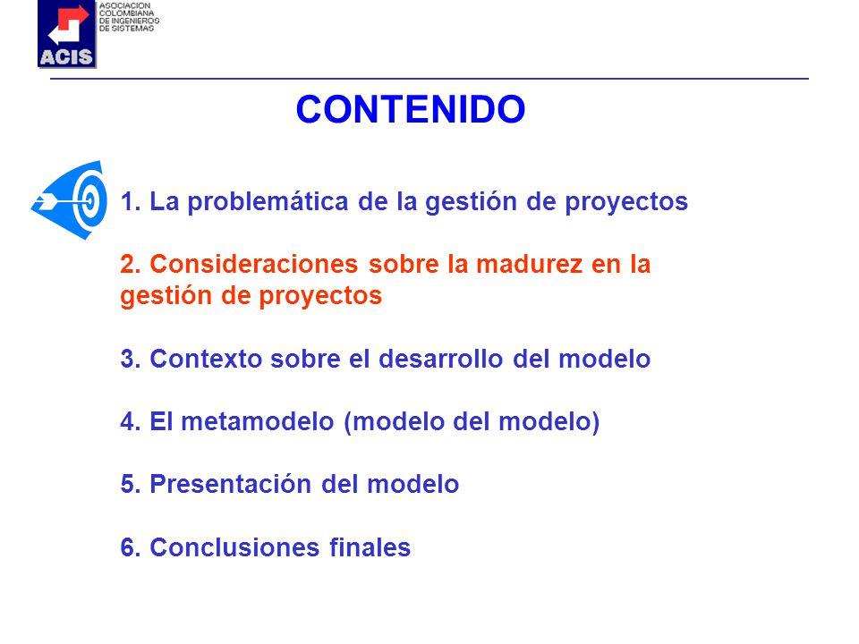CONTENIDO 1. La problemática de la gestión de proyectos