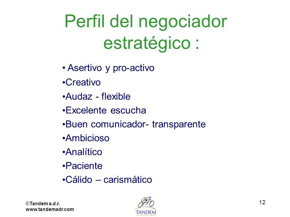 Perfil del negociador estratégico :