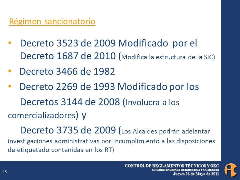 Decreto 2269 de 1993 Modificado por los