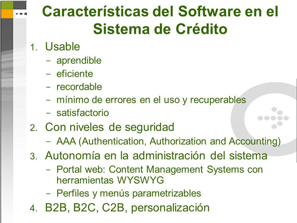 Características del Software en el Sistema de Crédito