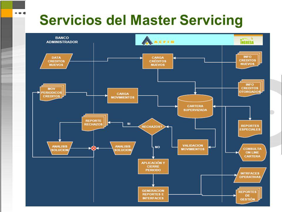 Servicios del Master Servicing