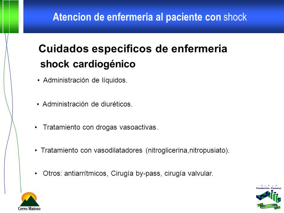 Atencion de enfermeria al paciente con shock