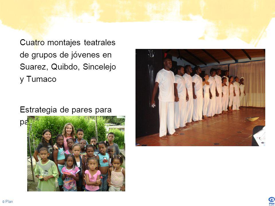 Cuatro montajes teatrales de grupos de jóvenes en Suarez, Quibdo, Sincelejo y Tumaco
