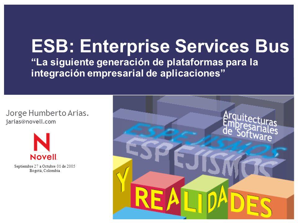 ESB: Enterprise Services Bus La siguiente generación de plataformas para la integración empresarial de aplicaciones