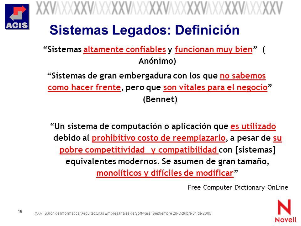 Sistemas Legados: Definición