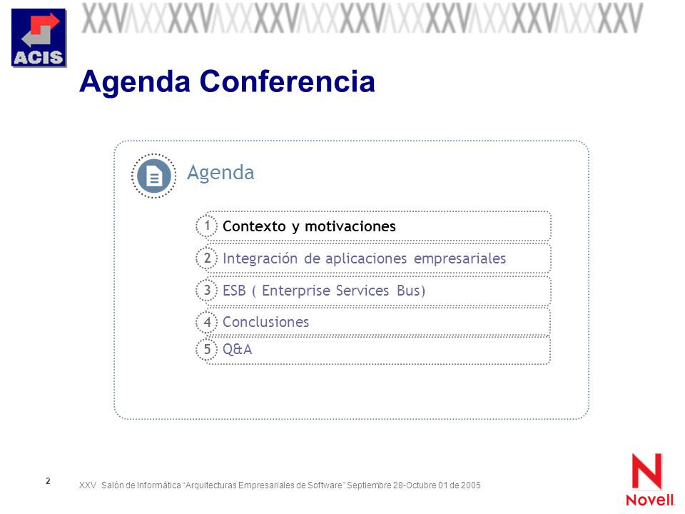 Agenda Conferencia Agenda Contexto y motivaciones