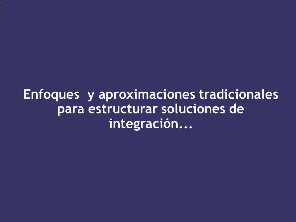 Enfoques y aproximaciones tradicionales para estructurar soluciones de integración...