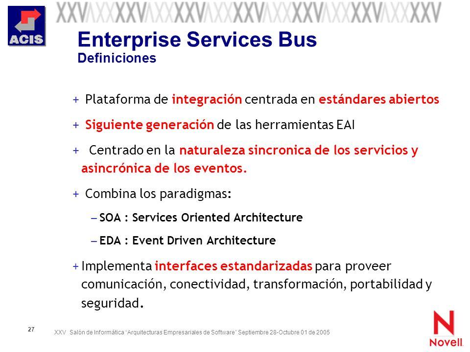 Enterprise Services Bus Definiciones