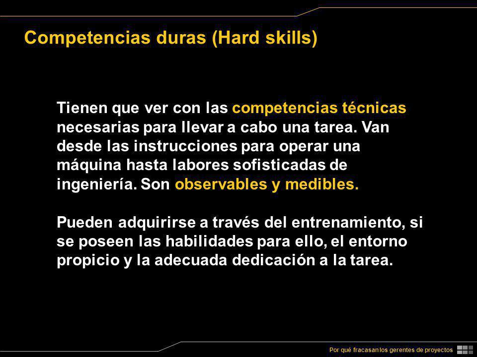Competencias duras (Hard skills)