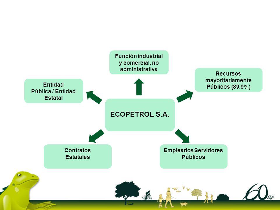 ECOPETROL S.A. Función industrial y comercial, no administrativa