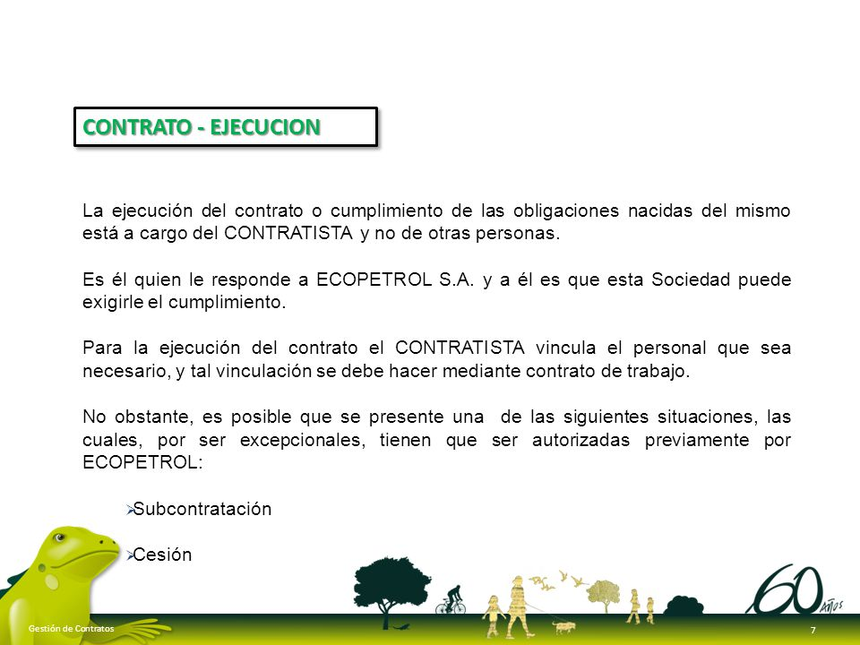 CONTRATO - EJECUCION
