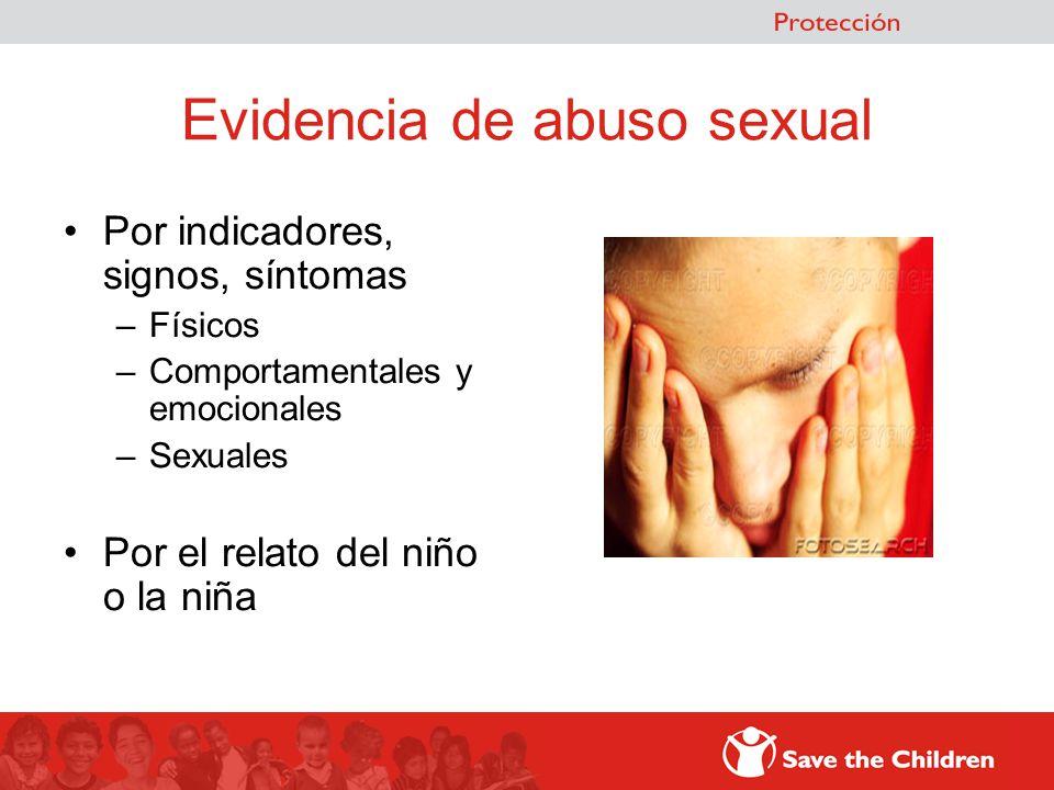 Evidencia de abuso sexual