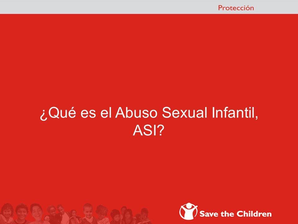 ¿Qué es el Abuso Sexual Infantil,