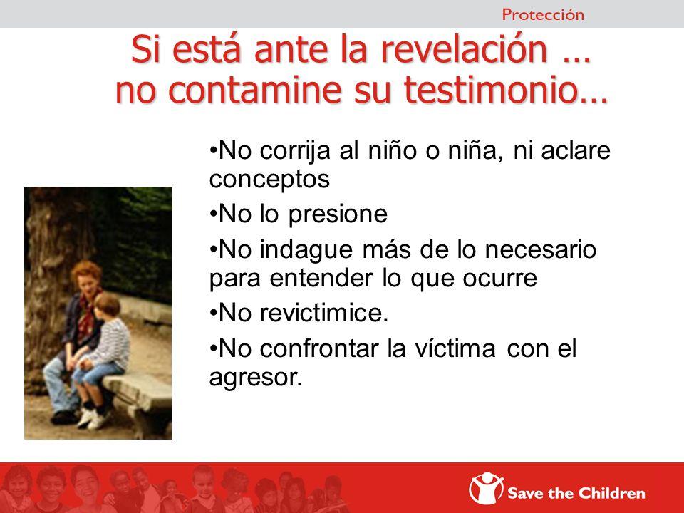 Si está ante la revelación … no contamine su testimonio…