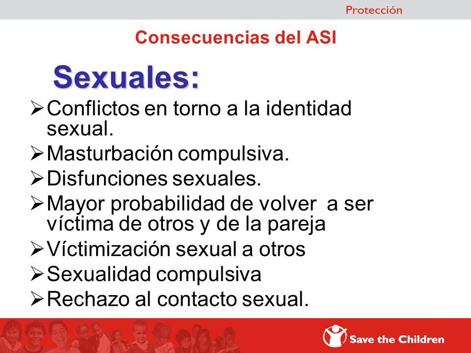 Sexuales: Conflictos en torno a la identidad sexual.