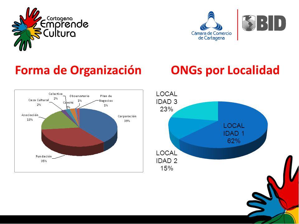 Forma de Organización ONGs por Localidad