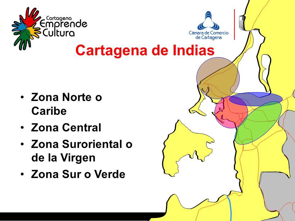 Cartagena de Indias Zona Norte o Caribe Zona Central