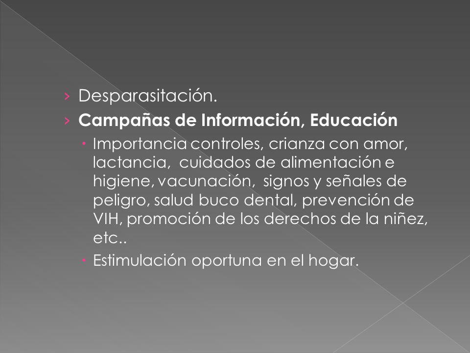 Campañas de Información, Educación
