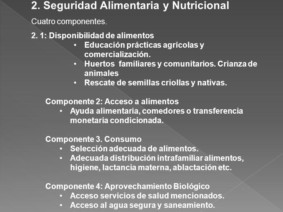 2. Seguridad Alimentaria y Nutricional
