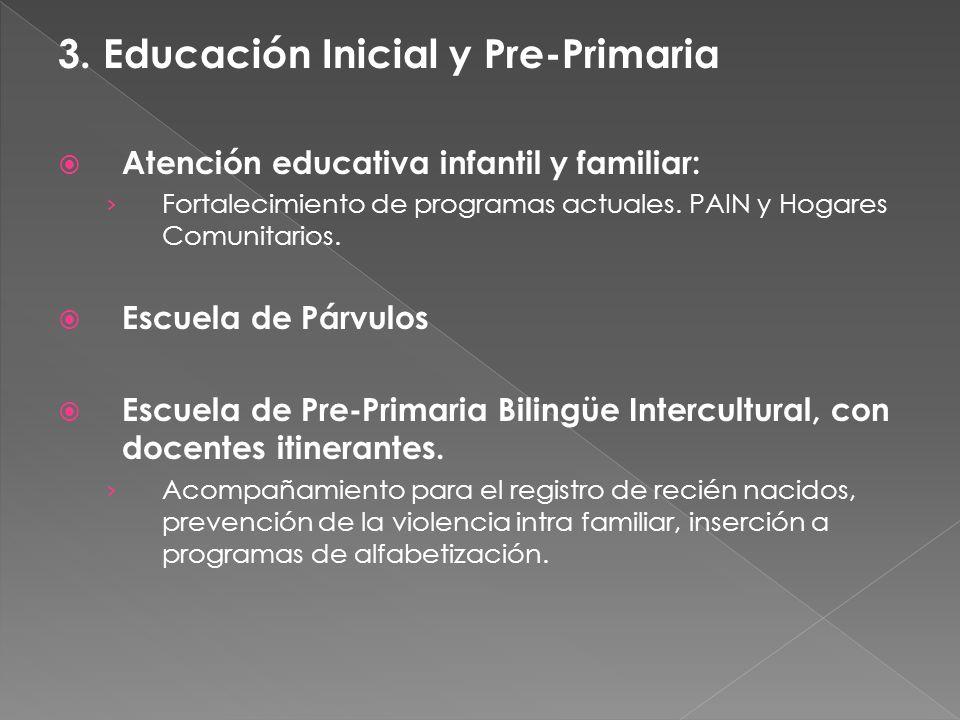 3. Educación Inicial y Pre-Primaria