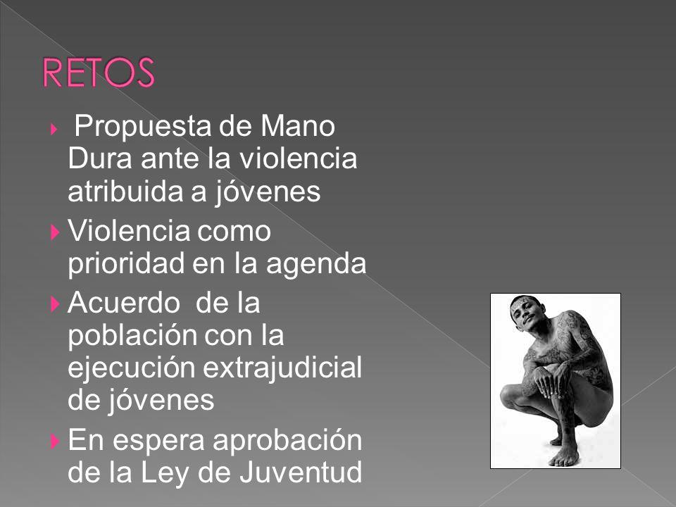RETOS Violencia como prioridad en la agenda