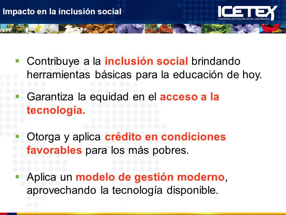 Garantiza la equidad en el acceso a la tecnología.