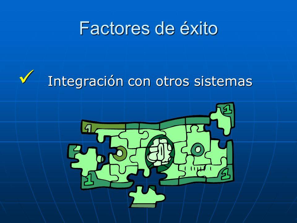 Factores de éxito Integración con otros sistemas