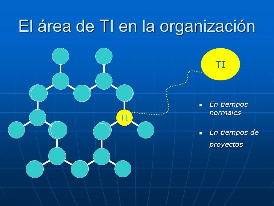El área de TI en la organización