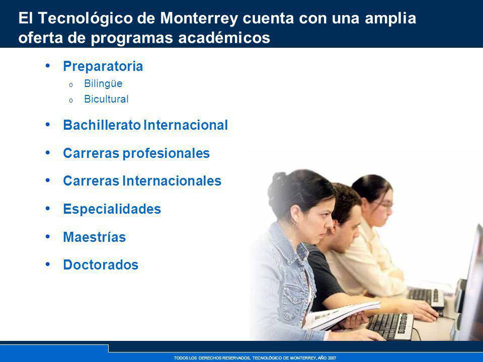 El Tecnológico de Monterrey cuenta con una amplia oferta de programas académicos