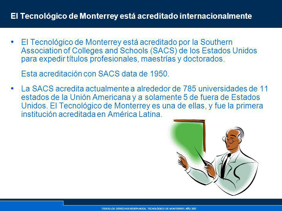 El Tecnológico de Monterrey está acreditado internacionalmente