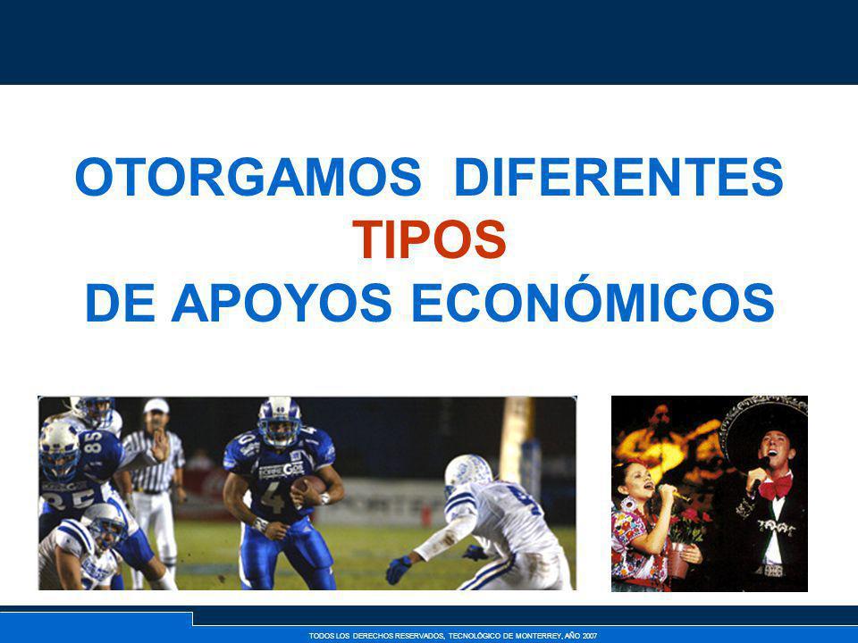 OTORGAMOS DIFERENTES TIPOS DE APOYOS ECONÓMICOS