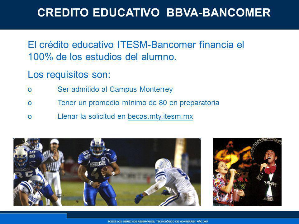 CREDITO EDUCATIVO BBVA-BANCOMER