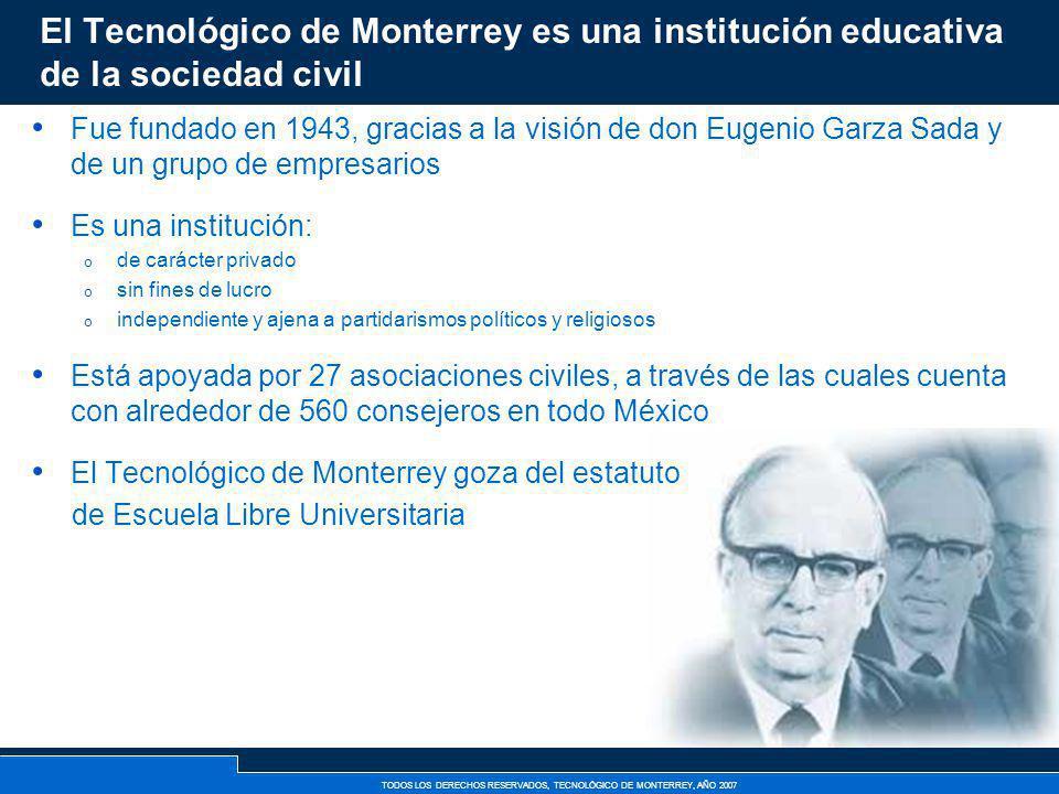 El Tecnológico de Monterrey es una institución educativa de la sociedad civil