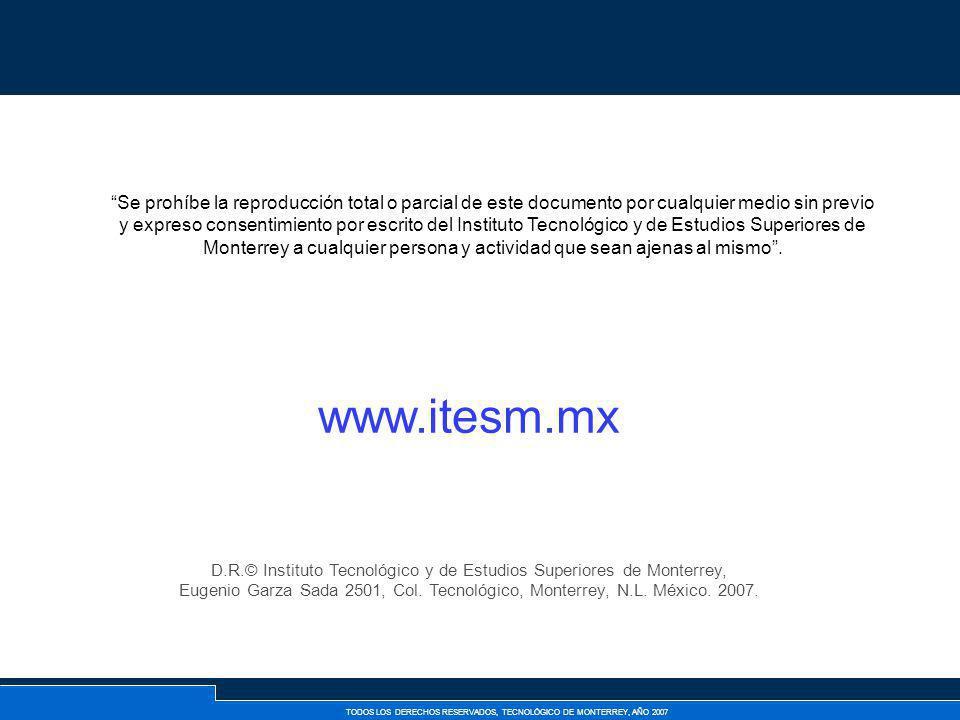 D.R.© Instituto Tecnológico y de Estudios Superiores de Monterrey,