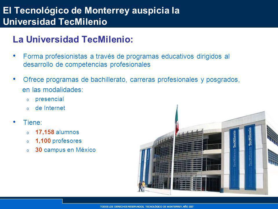 El Tecnológico de Monterrey auspicia la Universidad TecMilenio