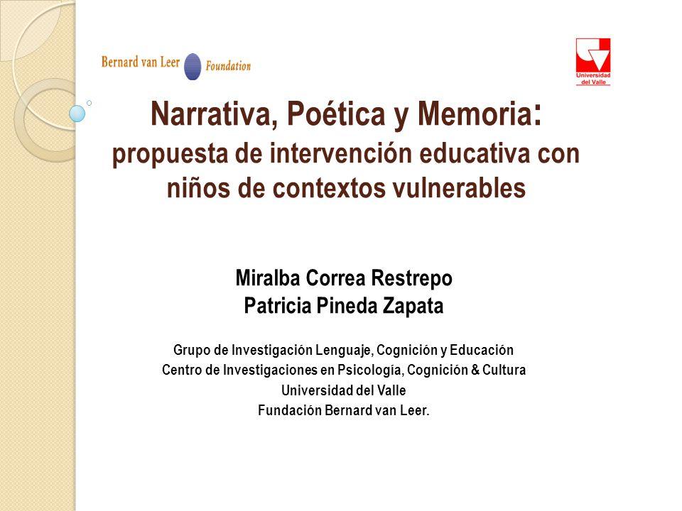 Narrativa, Poética y Memoria: propuesta de intervención educativa con niños de contextos vulnerables