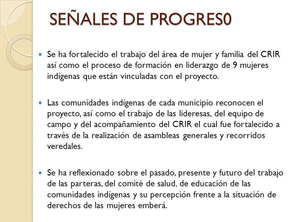 SEÑALES DE PROGRES0