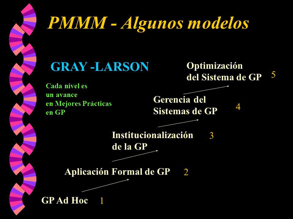PMMM - Algunos modelos GRAY -LARSON Optimización del Sistema de GP 5