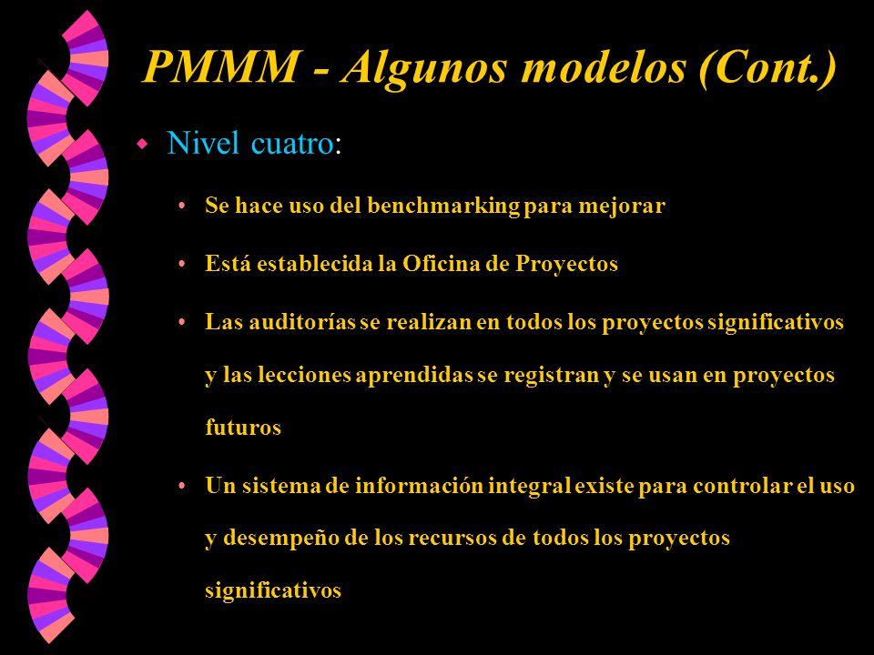 PMMM - Algunos modelos (Cont.)