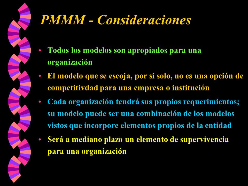 PMMM - Consideraciones