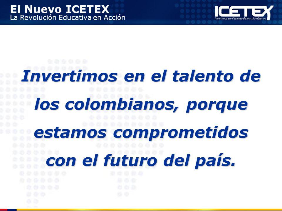 Invertimos en el talento de los colombianos, porque estamos comprometidos con el futuro del país.