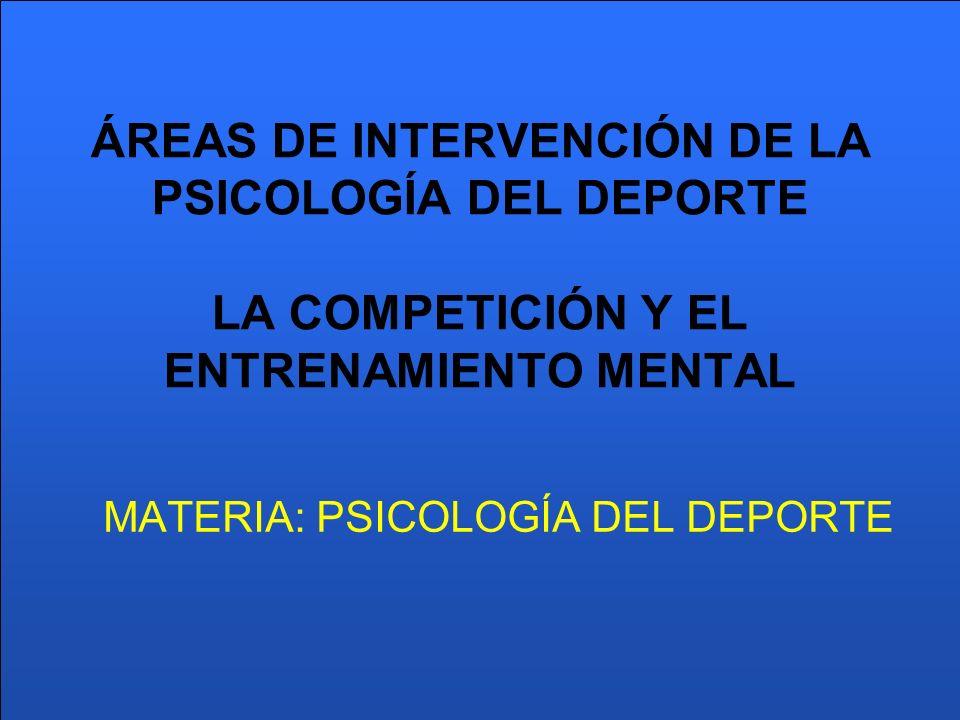 MATERIA: PSICOLOGÍA DEL DEPORTE