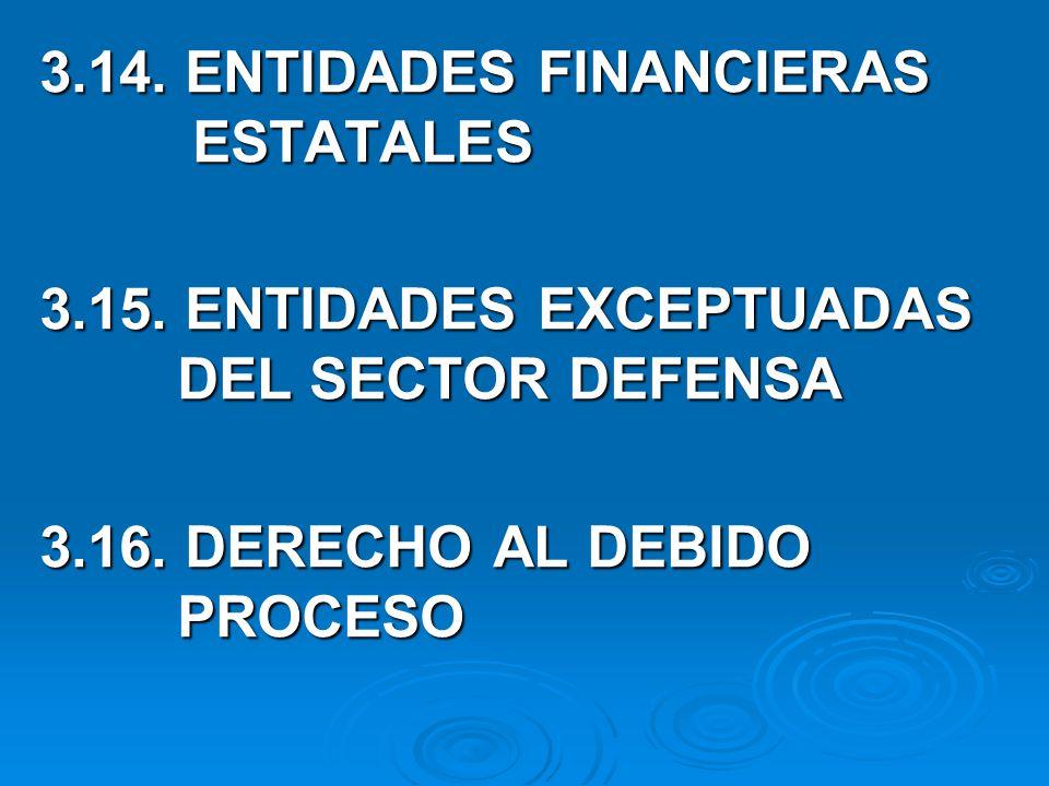 3.14. ENTIDADES FINANCIERAS ESTATALES