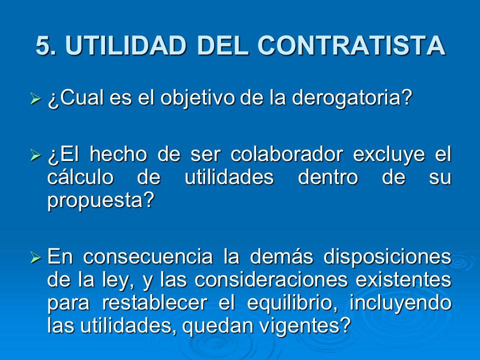 5. UTILIDAD DEL CONTRATISTA