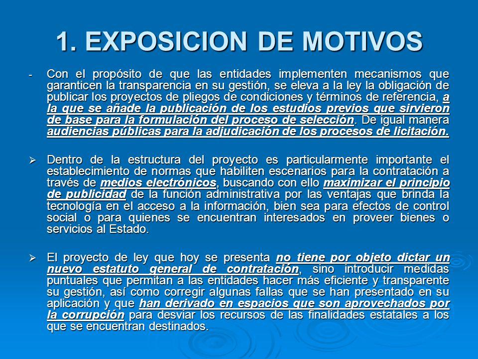 1. EXPOSICION DE MOTIVOS