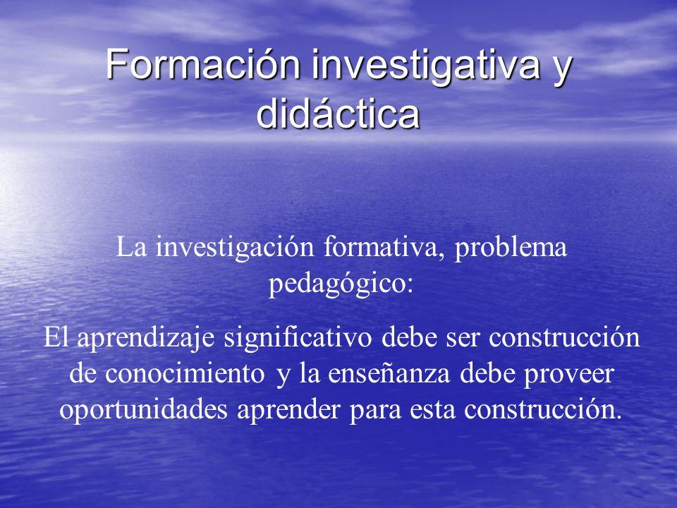 Formación investigativa y didáctica