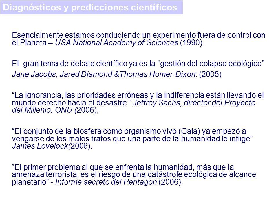 Diagnósticos y predicciones científicos