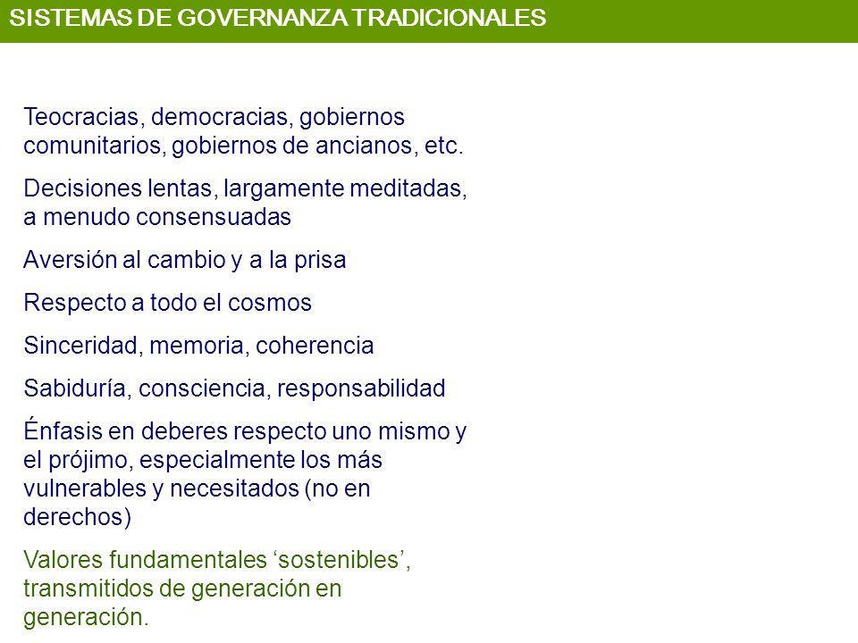 SISTEMAS DE GOVERNANZA TRADICIONALES