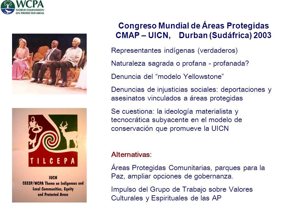 Congreso Mundial de Áreas Protegidas CMAP – UICN, Durban (Sudáfrica) 2003