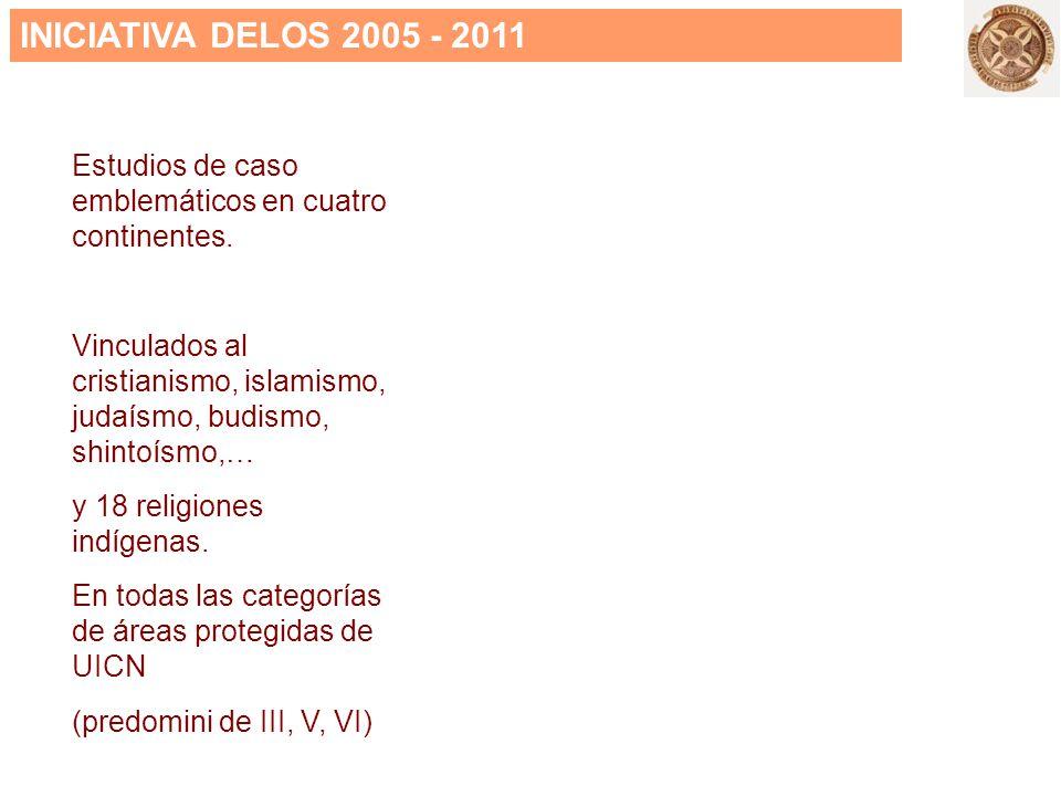 INICIATIVA DELOS 2005 - 2011 Estudios de caso emblemáticos en cuatro continentes.
